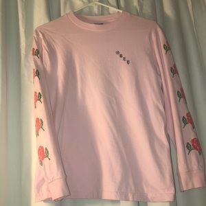 pink rose obey long sleeve